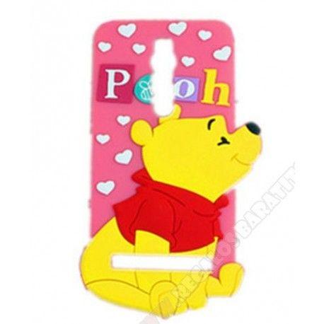 Carcasa divertida silicona oso pooh para tu móvil Asus zenfone 2