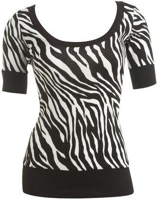 ShopStyle: Zebra Print Tee