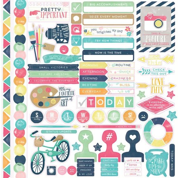 Echo Park Party Time 12x12 Scrapbook Kit Papers Stickers Birthday Celebrate