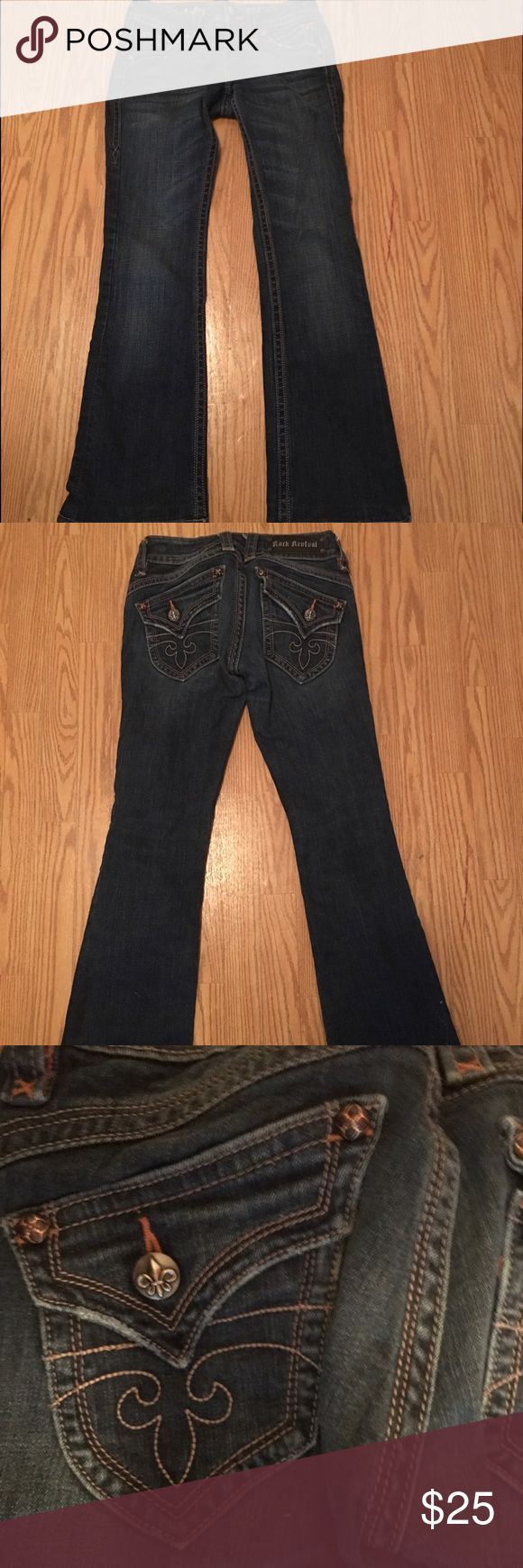 Women's Rock Revival Jeans Women's Rock Revival Jeans Size 27 Bootcut Worn once Great Condition! Rock Revival Jeans Boot Cut