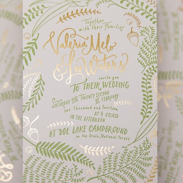 To A Foil Letterpress Invite Designed By Valwaters On Dribbble For Her Wedding Day Printed Pure White
