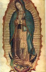 La milagrosa Virgen de Guadalupe: Imagen de la Virgen de Guadalupe, ícono milagroso de la Virgen María. También es conocida como Tonantzin, el antiguo nombre de la diosa azteca.