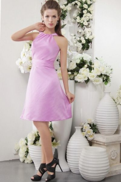 Satin Classic Scoop Bridesmaids Dresses wr2640 - http://www.weddingrobe.co.uk/satin-classic-scoop-bridesmaids-dresses-wr2640.html - NECKLINE: Scoop. FABRIC: Satin. SLEEVE: Sleeveless. COLOR: Purple. SILHOUETTE: Sheath/Column. - 83.59