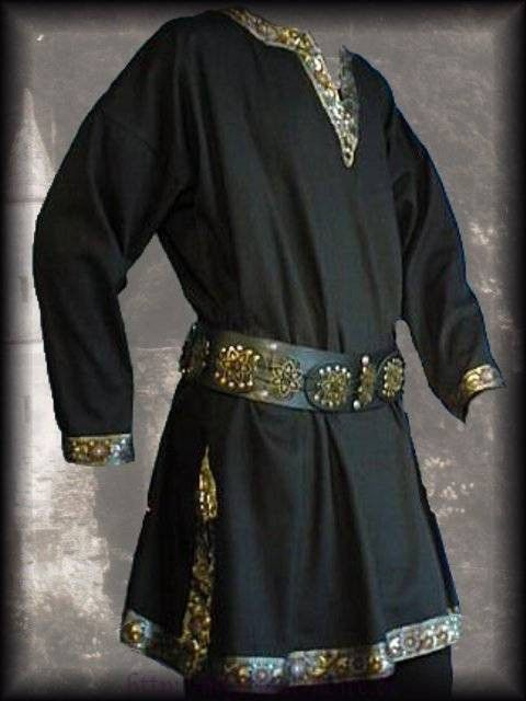 Mens Tops Medieval Tunic Brocade Braided Renaissance Larp Aristocrat Chevalier