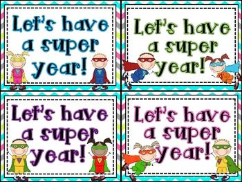 Editable Super Hero Welcome Back to School Post Cards *Freebie*