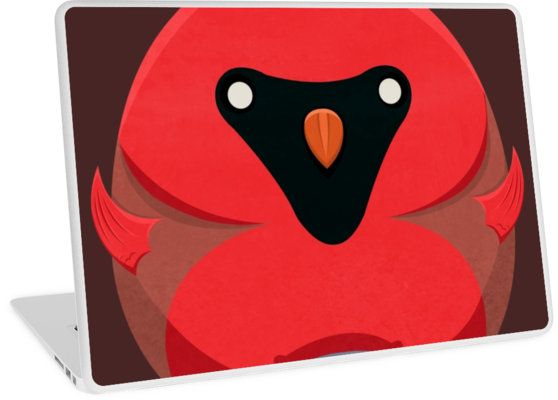 Cartoon Cardinal Laptop Skins by AnMGoug on Redbubble. #laptop #cardinal #cartoon