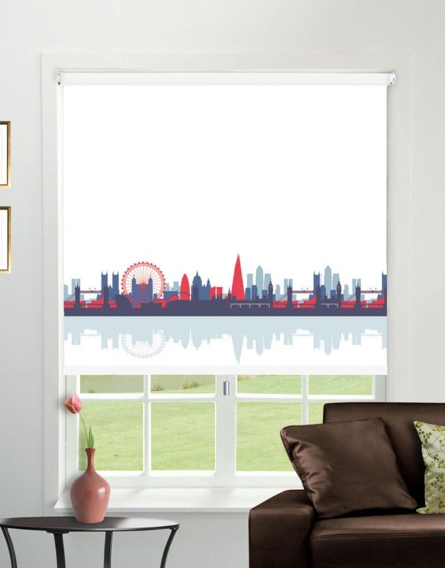 CityScape Rule Britannia Blackout Roller Blind - Direct Order Blinds UK