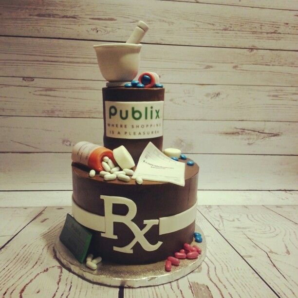 Publix Pharmacy Graduation Cake With Sugar Mortar And