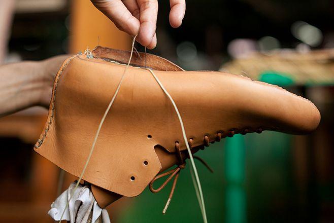 hand sewn process -