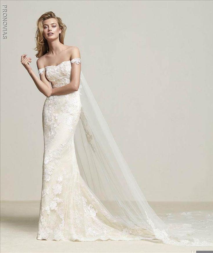 Pronovias Dria Wedding Dress avaialble now in the boutique