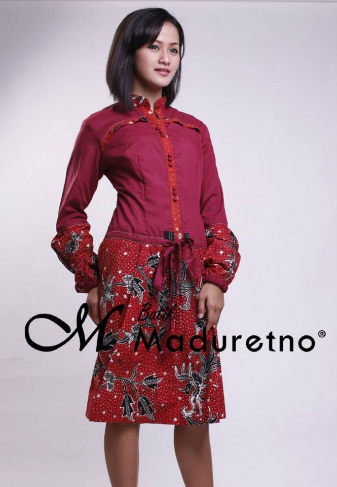 Tunik Batik Modern | Pusat Batik Madura | Pinterest