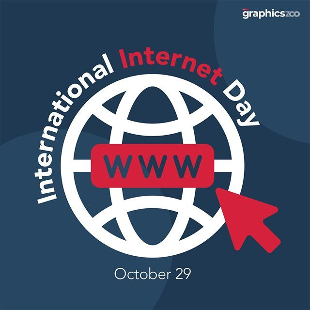 International Internet Day 29 October Creative Graphic Design Creative Graphics Computer Network