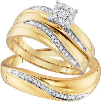 Engagemtn And Wedding Ring Set