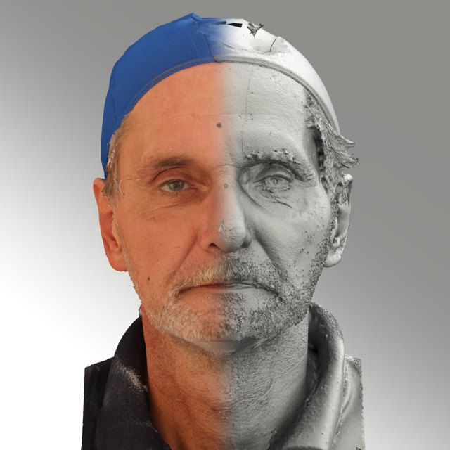 3D Head Scan Of Neutral Emotion   Richard