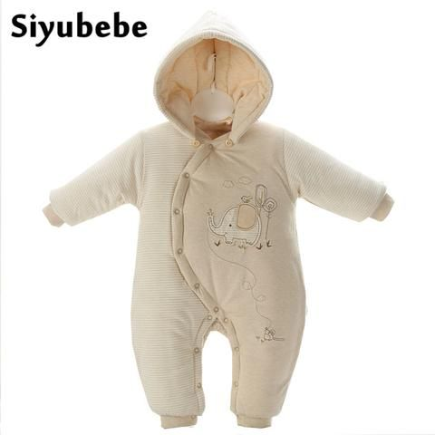 5f6c73764 Winter Baby Rompers Organic Cotton Baby Hooded Snowsuit Jumpsuit ...