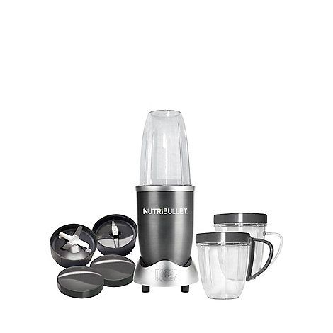 This is so much more than a juicer, which extracts the juice from your fruit or vegetable, leaving a pulpy mess. The graphite grey Nutribullet literally pulverises fruit, vegetables, nuts and seeds, giving you all the nutrition and leaving nothing out. The secret of the NutriBullet is its powerful 600 watts motor combined with bullet cyclonic action that forces everything through the turbo extractor blades, turning at up to an incredible ten thousand RPM to break down and pulverise the…