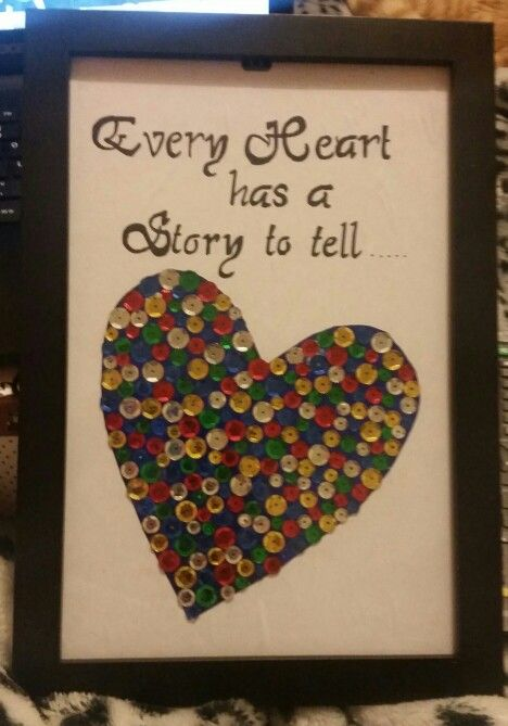 Framed heart and quote