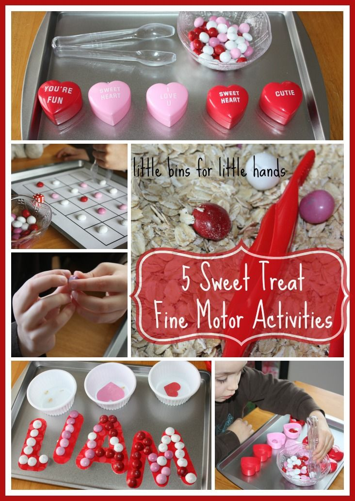 Sweet Treat Valentines Fine Motor Skills Activities