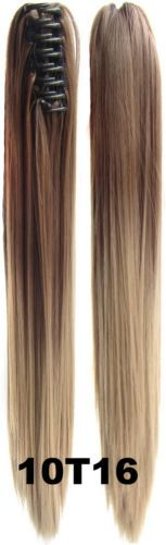 170g-Straight-Ombre-Claw-Jaw-Pony-tail-Clip-In-Synthetic-Ponytail-Hair-Extension