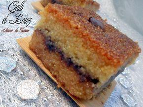 qalb elouz chamia kalb louz cuisine algerienne gateau algerien