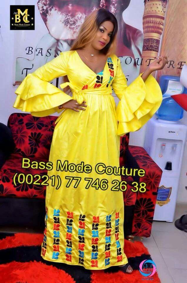 robe en basin jaune | robe en pagne en 2019 | Pinterest ...