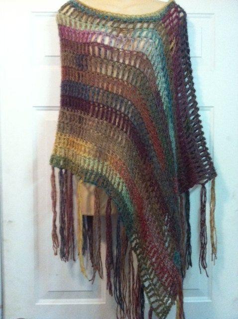 Light As A Feather  Crochet Poncho Pattern. $5.99, via Etsy.