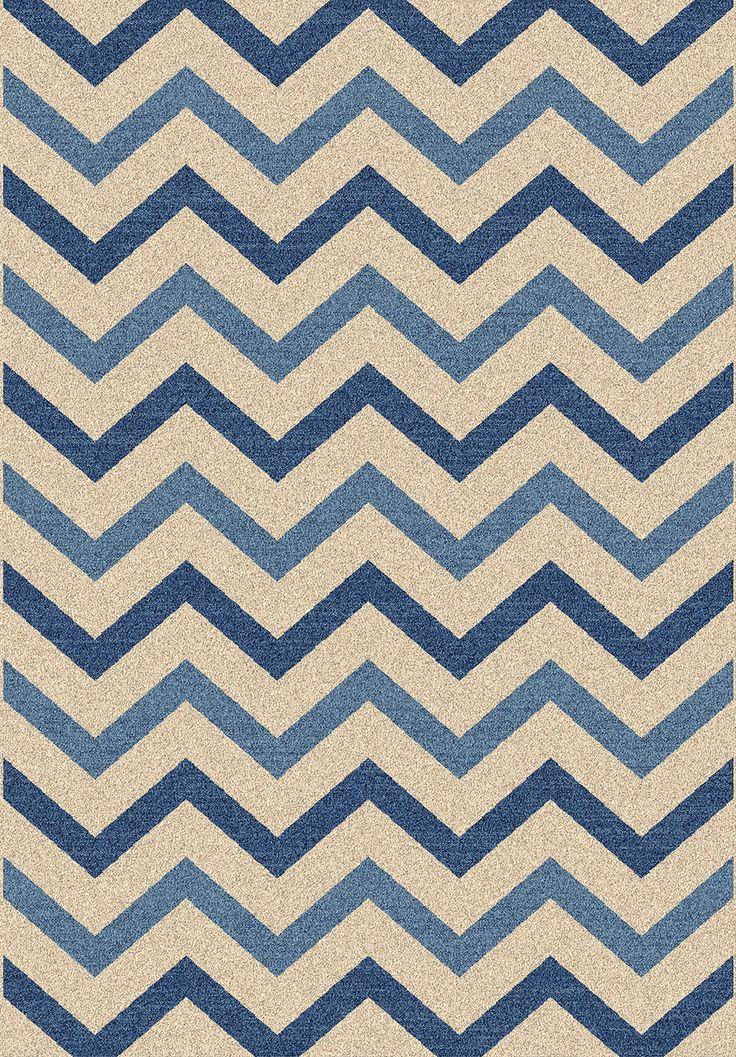 delta alfombra de diseo de espiga o chevron azul muy alegre y suave por