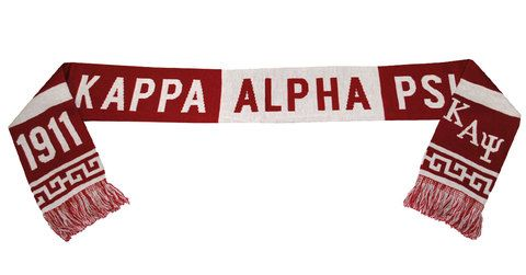The Kappa Alpha Psi Scarf features double-layer construction to help you stay warm while at work or play and premium details that show off your passion for your fraternity. #Nupe #KappaAlphaPsi #GreekApparel #GreekGear #KAPsi #greekparaphernalia #Greekkulture