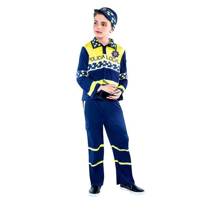 DisfracesMimo, disfraz de policia local niño varias tallas. Con este traje de Policía infantil te convertirás en un auténtico agente de la justicia. Este disfraz es ideal para tus fiestas temáticas de disfraces de policias infantiles.