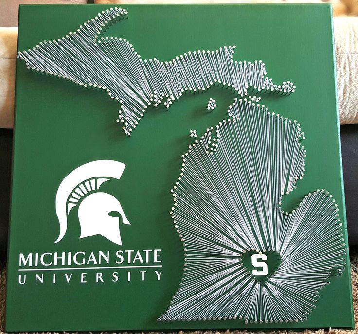 "20"" x 20"" Michigan State Spartans string art"
