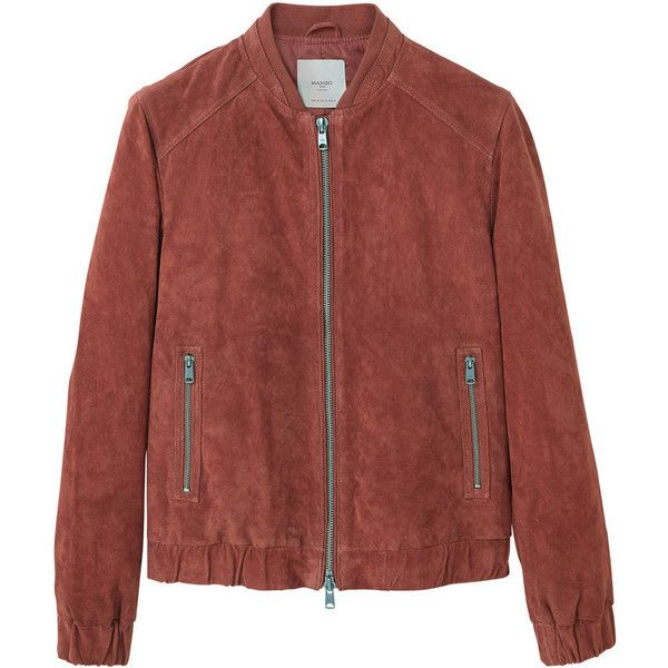 latest design pretty cool crazy price MANGO MAN Zipped suede bomber jacket ($68) ❤ liked on Polyvore ...