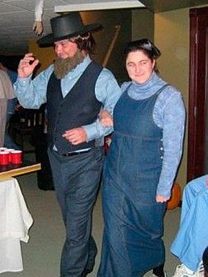 Amish halloween costume couple