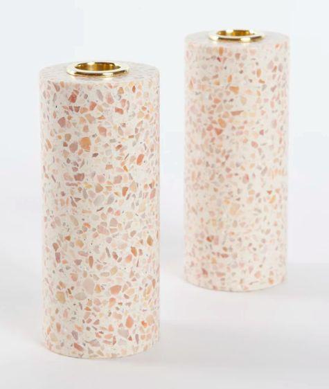 Terrazzo candle holders
