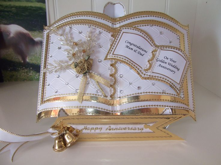 Bookatrix card made for parent's Golden Wedding.