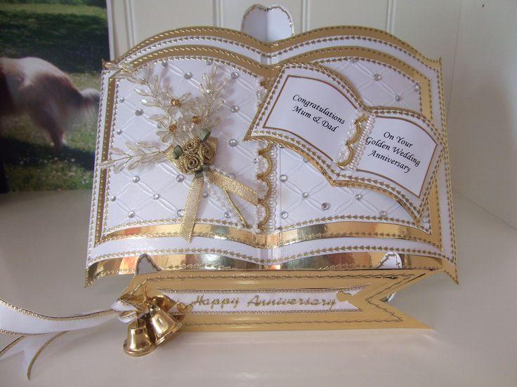 Bookatrix card made for parent's Golden Wedding.