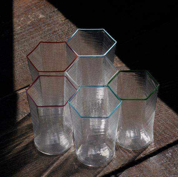 Murano Glass geometric tumblers Trademark of Origin by YourMurano