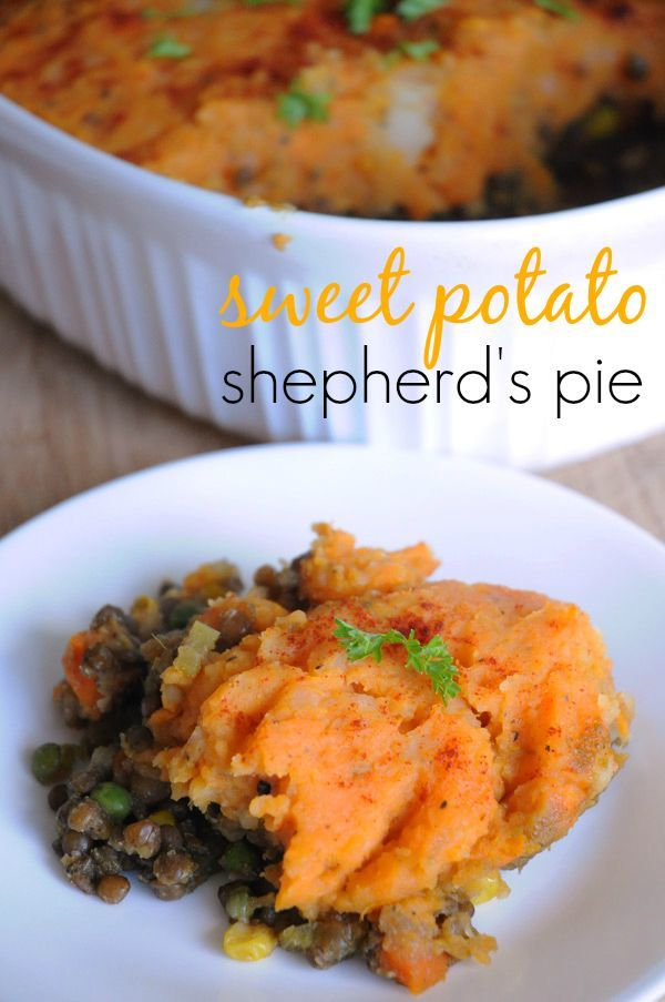 Vegan Sweet Potato Shepherd's Pie -- I LOVE sweet potatoes. This looks so filling for those rainy spring nights...