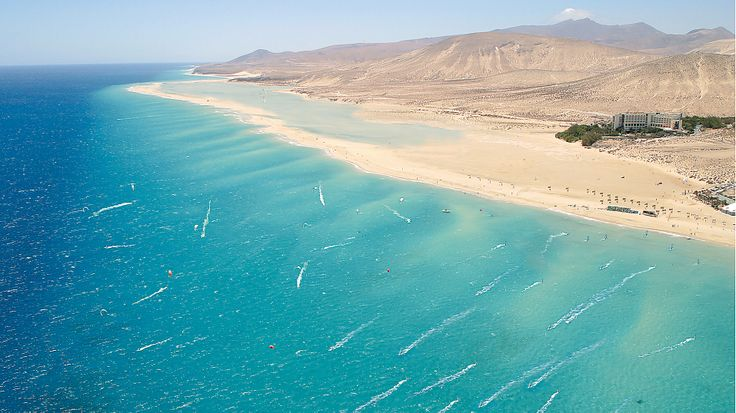 Sotavento, Fuerteventura. Perfect flat water conditions as well as small/medium wave spot. I'd like to go back... #windsurfing travel