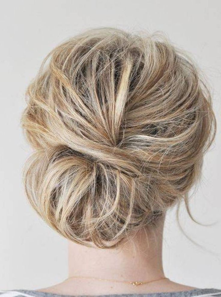 simple hair bun styles simple updos for medium hair hair 7232