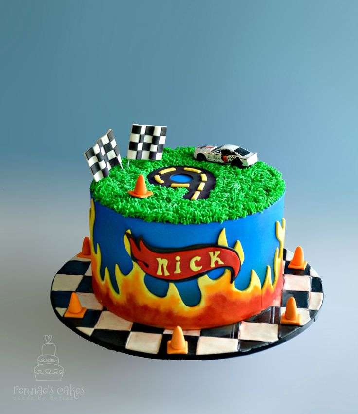 Hotwheels Cake 9th Birthday