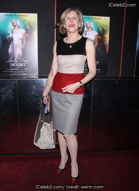 Christine Baranski http://www.icelebz.com/events/opening_night_of_lady_day_at_emerson_s_bar_and_grill_at_the_circle_in_the_square_theatre/photo7.html Opening night of Lady Day at Emerson's Bar and Grill at the Circle in the Square Theatre
