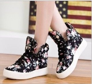 Floral shoes soled platform shoes high shoes casual