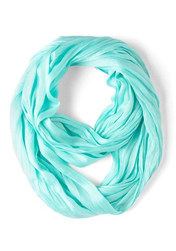 Brighten Up Circle Scarf in Sky, #ModCloth - this website has a lot of cute scarves