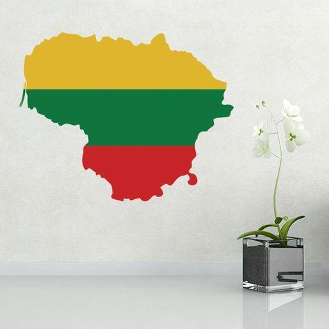 Look! My DIY : Lithuania flag map sticker , free shipping 2016 | diythinker.com