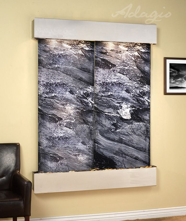 An interior waterfall feature is great for the home and defines peace and tranquility. Has anyone ever told you putting an artistic water fountain inside of your partner's home can create a better living environment? This is the truth.www.waterfeaturesupply.com/waterwalls/indoor-wall-water-fountains.html