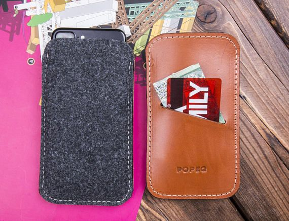 Leather iPhone 7 Plus Case Iphone Sleeve Leather Phone