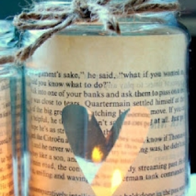DYI candle in a jar. Cute!