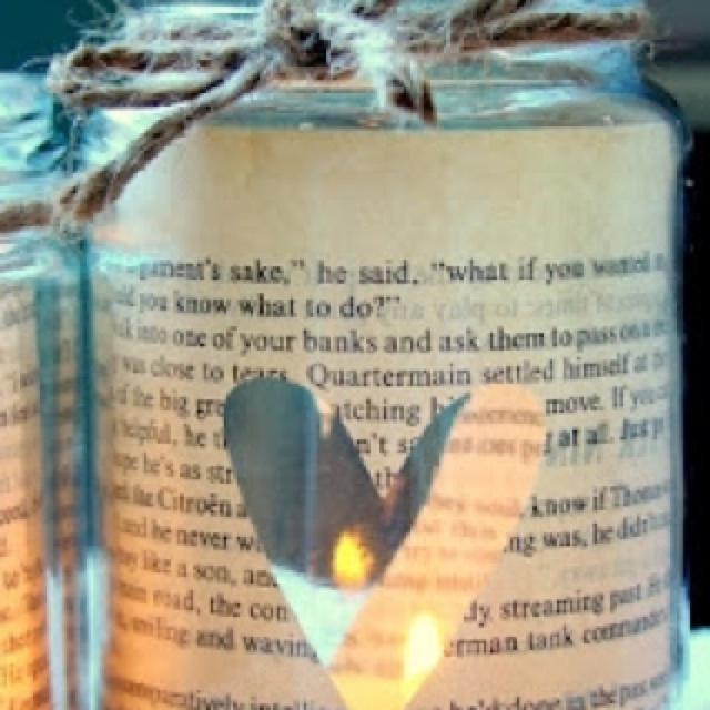 DYI candle in a jar. Cute!