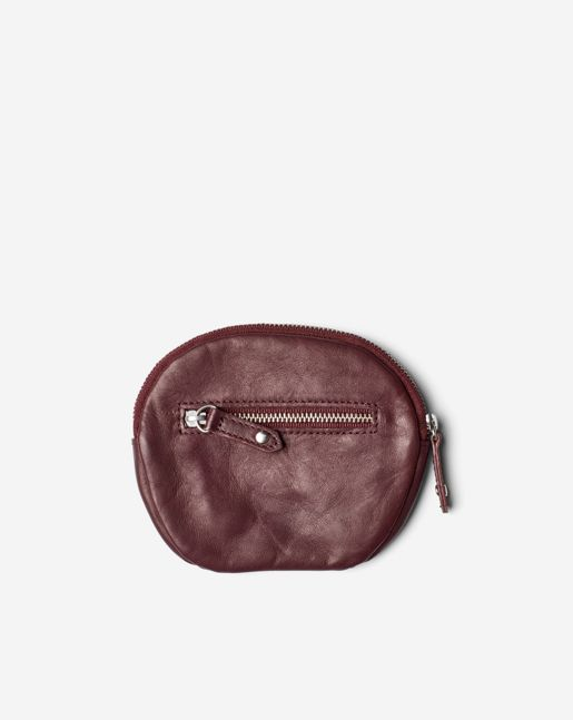Mini Leather Purse Burgundy