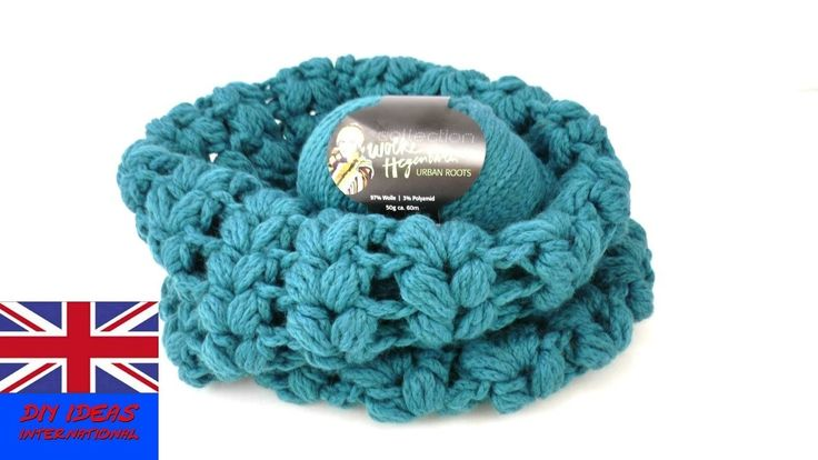 Crochet Puff Stitch Loop – Scarf for beginners and intermediates – Star Pattern
